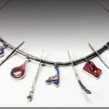 Royal Jerusalem- Sterling Silver and Mixed Media