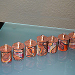 Red Rock Collection Menorah Copper, Brass and Mix Media