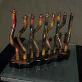Whimsical Collection Menorah Copper, Brass and Mix Media